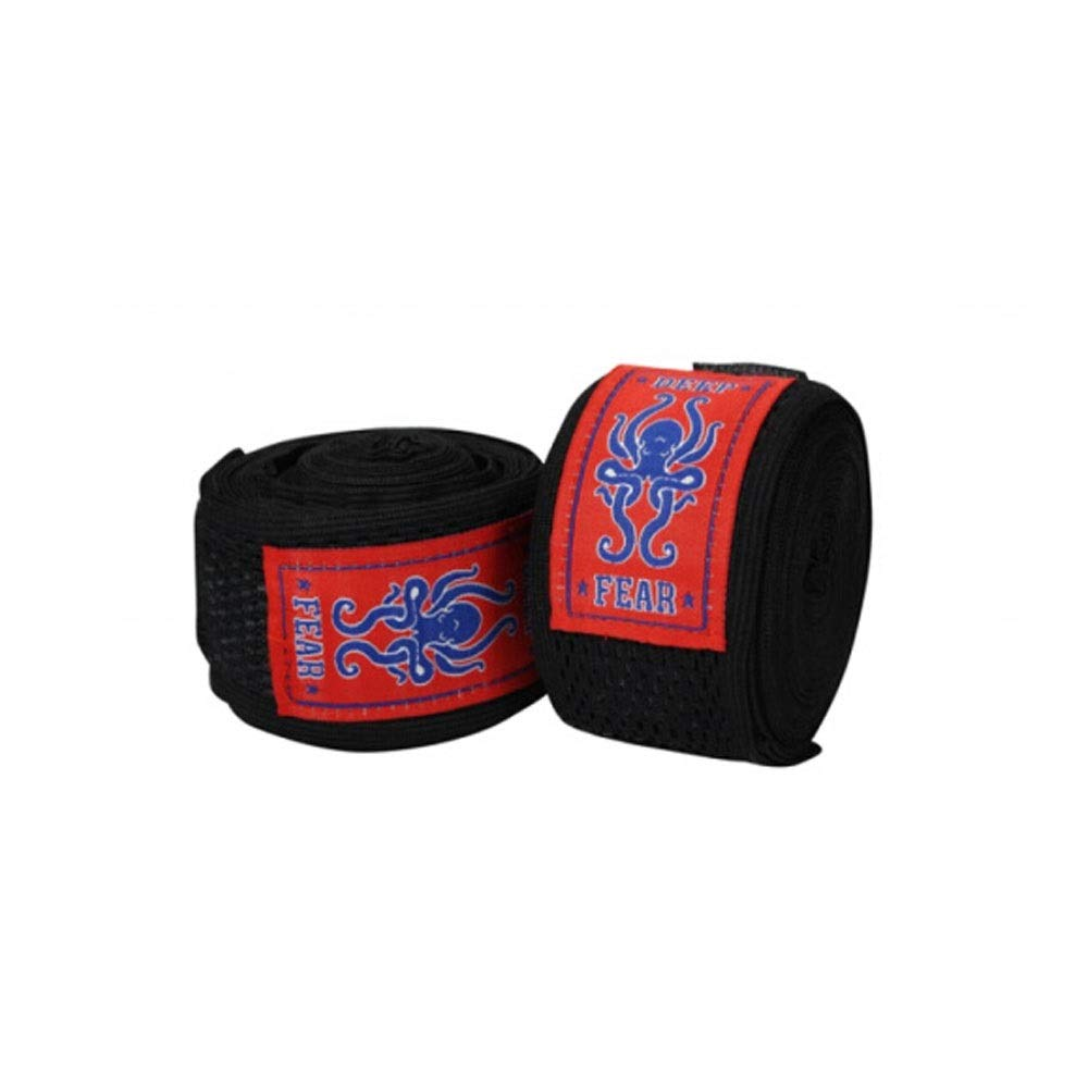 XIAONINGMENG High Elastic Bandage, Boxing Muay Thai Bandage, Hand Strap 5 Meters, Rose Red/Black/Gray, The Best Choice for Boxing Enthusiasts (Color : Black)