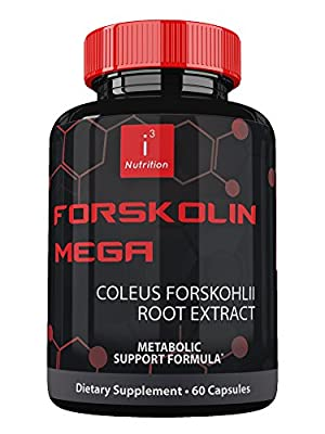 Forskolin Mega by i3 Nutrition ? Coleus Forskohlii Extract to Lose Weight Fast ? Cutting Edge Metabolism Booster, Fat Burner, & Natural Appetite Suppressant That Works