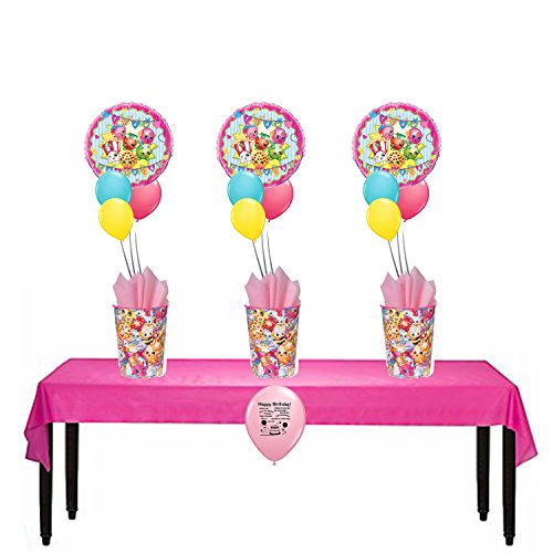 Shopkins Party Supplies Party Favor Cups Balloon Table Centerpieces Set of 3