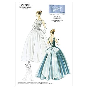 1950s Sewing Patterns | Swing and Wiggle Dresses, Skirts 1956 Misses Dress and Underskirt Size AA (6-8-10-12) $14.66 AT vintagedancer.com