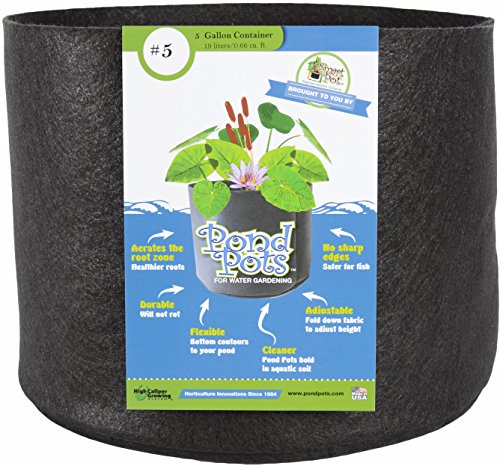 - Smart Pots PondFlexible Aquatic Plant Container for Water Gardening,5 Gallon