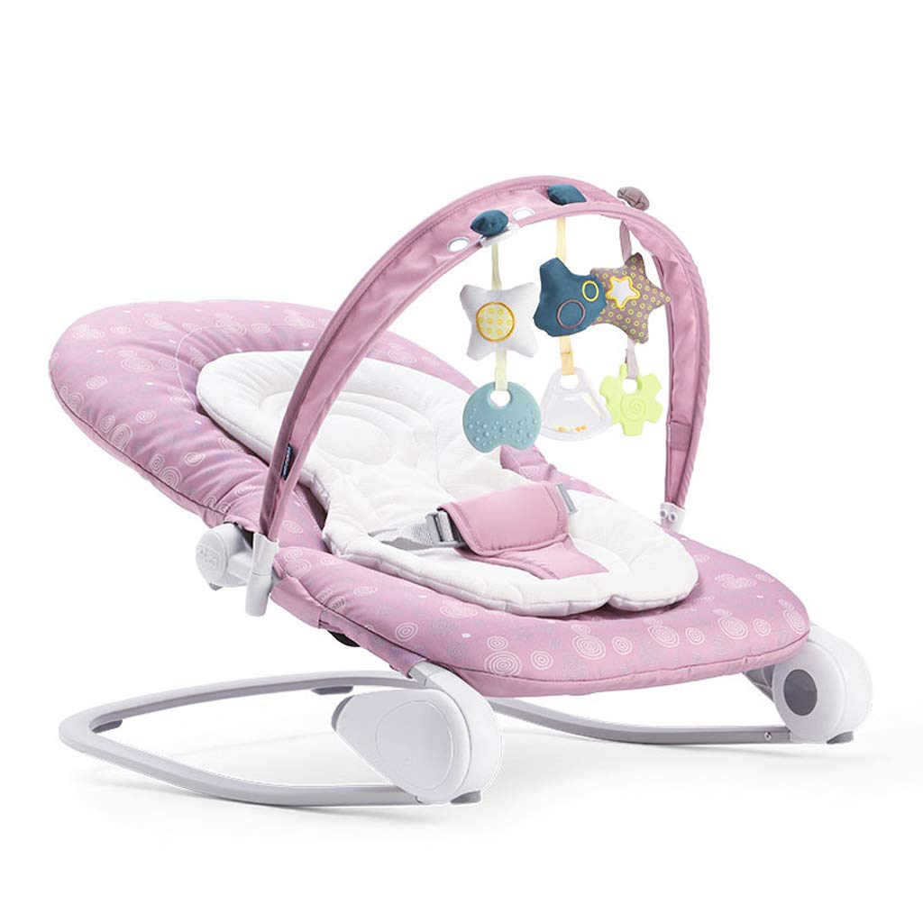 Premium Baby Rocking Chair With Adjustable Angle And Safety Belt Activity & Gear Mother & Kids 2 Colors