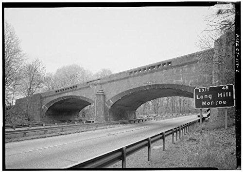 Photo: Merritt Parkway,Frenchtown Road Bridge,Trumbull,Fairfield - Of Trumbull Ct Map
