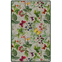Brumlow Mills LW10241-20x34 Butterflies & Berries Green Kitchen Rug, 18 X 210