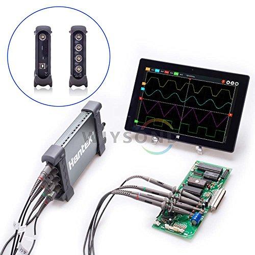 Wiysond 6074BC 4 Channel 1GSa/s 70Mhz Bandwidth Hantek PC Based USB Digital Storage Oscilloscope FFT spectrum analyzer by Wiysond