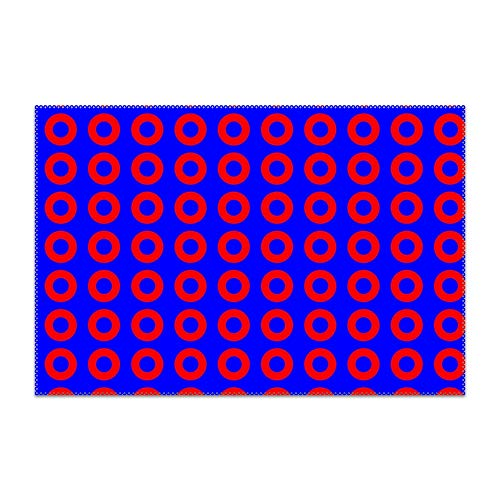 Trongr Washable Easy to Clean Purple Phish Placemat for Kitchen Table Heat-resistand Table Mats 12x18 -
