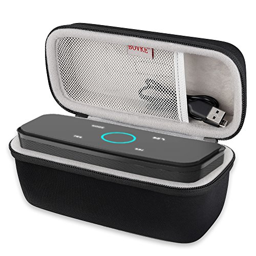 BOVKE for DOSS SoundBox Touch Wireless Bluetooth V4.0 Portable Speaker Protective Hard EVA Travel Shockproof Carrying Case Cover Storage Pouch Bag, Black