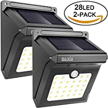 28 LED Solar Motion Sensor Security Wall Lights-BAXIA TECHNOLOGY Waterproof Wireless Bright LED Night Light for Outdoor Gate, Door, Driveway, Garden, Patio, Yard(2 Packs)