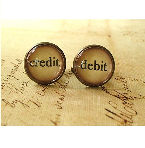 16 mm Vintage Style Debit and Credit Cuff Links