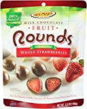 Mrs. May's Whole Milk Chocolate Rounds, Strawberry, 3.5 Ounce (Pack of 6)