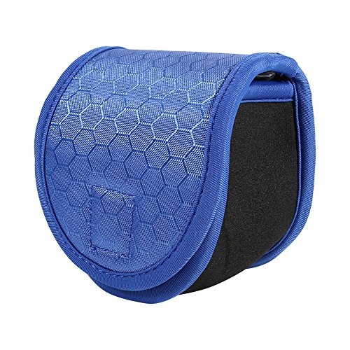 Sugoyi Reel Pouch, Durable Blue Fishing Fly Reel Protective Pouch Case Cover Bag for 2/3/4/5/6wt