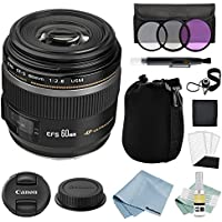 Canon EF-S 60mm f/2.8 Macro USM Lens + Canon EF-S 60mm Lens Advanced Accessory Kit - Canon Lens Bundle Includes EVERYTHING You Need to Get Started