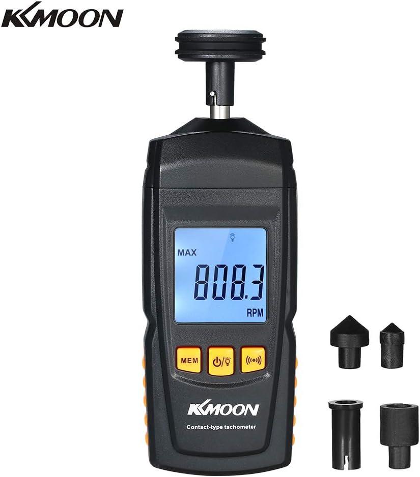 KKmoon Tacómetro digital Portátil Contacto Motor tacómetro LCD ...