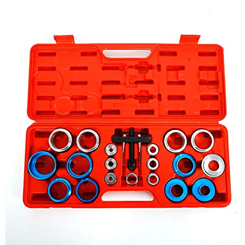 MONIPA 20PCS Car Crankshaft Bearing Removal Tool, Car Camshaft Crank Crankshaft Oil Seal Remover Installer Installation/Removal Tool Kit Puller w/Portable Case for Auto Repair