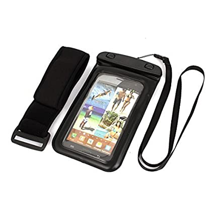eDealMax Caso subacuático impermeable seco Bolsa Bolsa de la cubierta w Correa Para teléfono celular