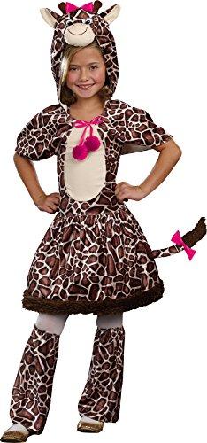 UHC Girl's Gigi Giraffe Outfit Child Fancy Dress Halloween Costume, M (8-10) (Gigi Giraffe Girls Costume)