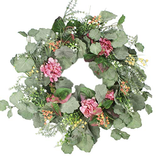 Delicaft Large Blooming Peonies Hydrangea Wreath Door Wreath - Handcrafted Wreath for Home Wall Decor (Multicolor)