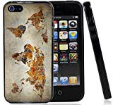 Grunge World Map Case / Cover For The Iphone 5G / 5S / Iphone SE (2016) By Atomic Market