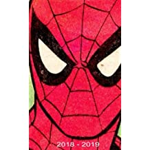 """2018 - 2019: Two-Year Monthly Pocket Planner: 24-Month Calendar , Notes and  Phone book,  U.S. Holidays, Size : 4.0"""" x 6.5"""", ( Spiderman )Hand Lettering book"""