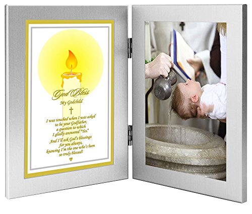 Godchild Baptism or Christening Gift from Godfather, Add Photo to Double -