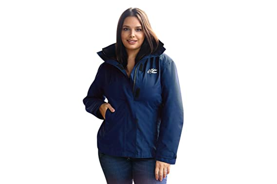 530ad877b8eb0 Mother & Nature Women Maternity Waterproof Jacket for Pregnancy (10, Blue)