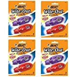 BIC Wite-Out Mini Twist Correction Tape, White, 2-Count (Pack of 4)