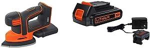 BLACK+DECKER 20V MAX Mouse Sander with Lithium Battery & Charger (BDCMS20B & LBXR20CK)