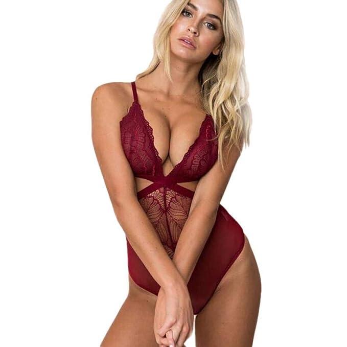 Winwintom-Lencería Bodysuit LenceríA,Erotica Ropa Interior para Mujeres,Sexy LenceríA Encaje Bodysuit