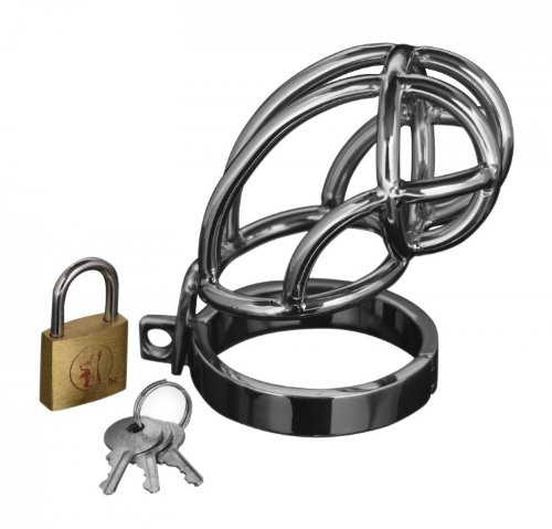 Master Series Captus Stainless Steel Locking Male Chastity Cage by Master Series