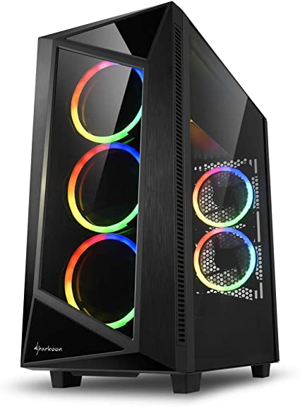 Sharkoon REV200 RGB - Caja de Ordenador, PC Gaming, Semitorre ATX ...