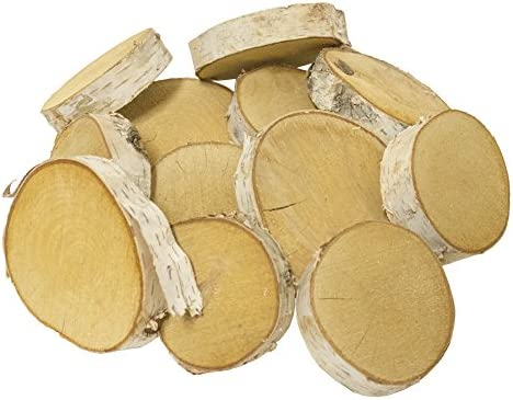Walnut Hollow 42235 Birch Round Medium Wood 6 Pack