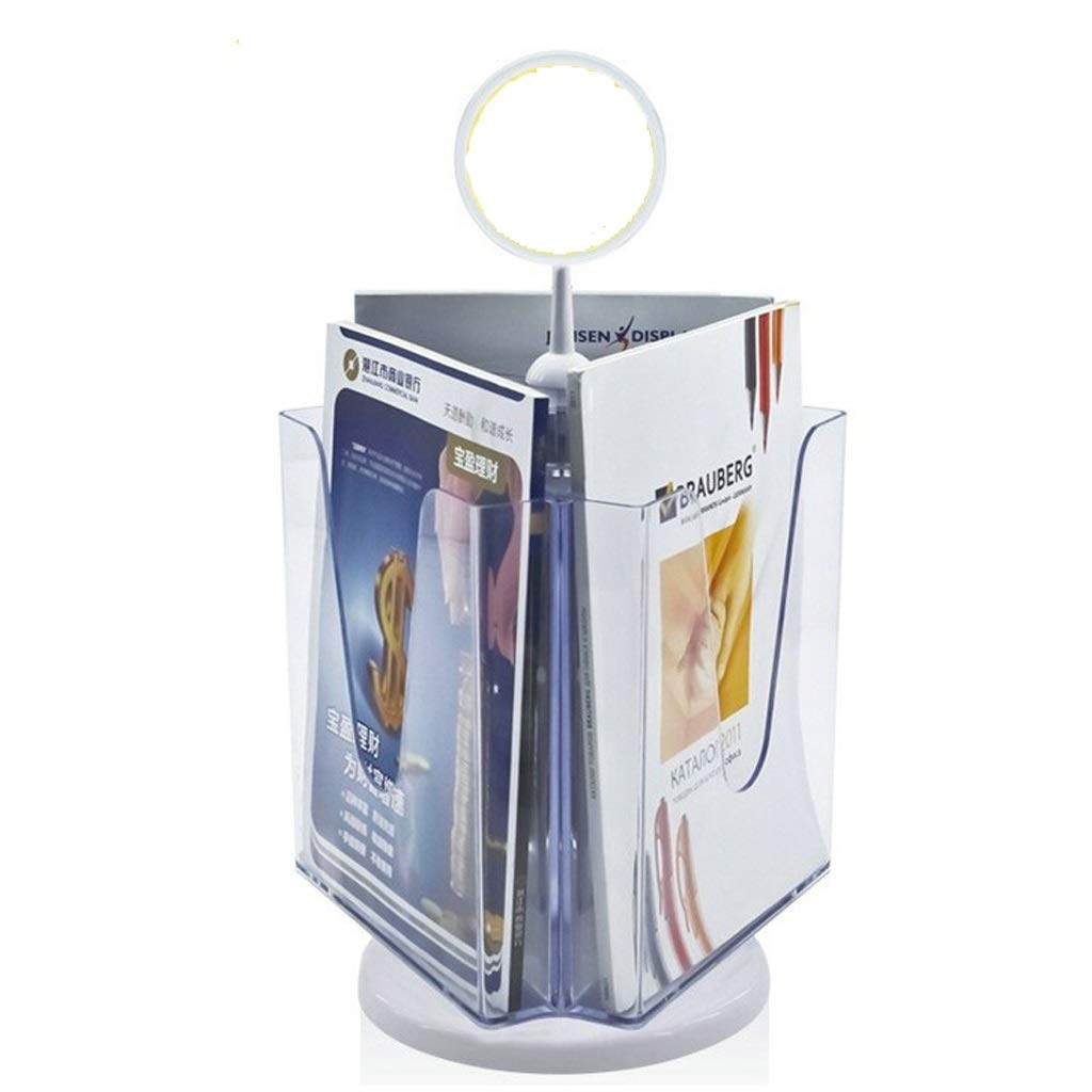 MDBYMX Menu Holder Flyer Holder Multi-Purpose Transparent Plastic Display Stand for A4 Flyer Literature and Brochure Desktop A4 Display Stand by MDBYMX