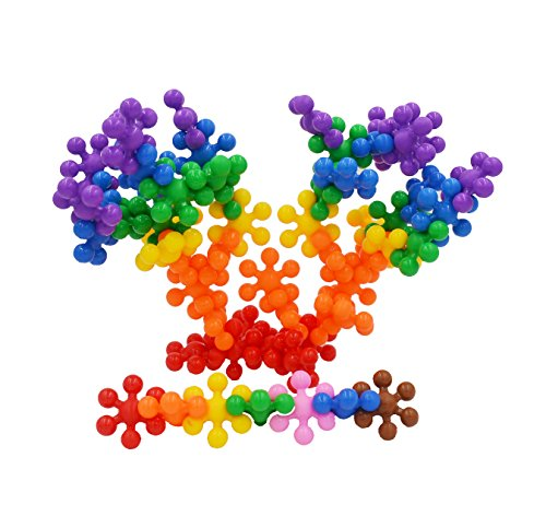 IRISFLY 120Pcs Mighty Molecules Big Size Clip Connect Pieces Interlocking Solid PE Plastic Building Set Kids Safe Material
