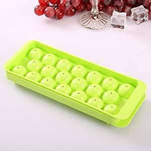 Tairacy Whiskey Tray Sphere Party Brick Round Mold Mould Bar Kitchen Ice Ball Cube Maker Plastic (Green)