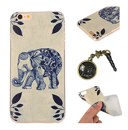 TPU para smartphone Apple iPhone 6(4.7pulgadas) Diseño Pattern Relief Carving Carcasa–Case de diseño exclusivo–De TPU suave ultrafina–Protege de la suciedad y arañazos + Polvo Conector rosa 13 9