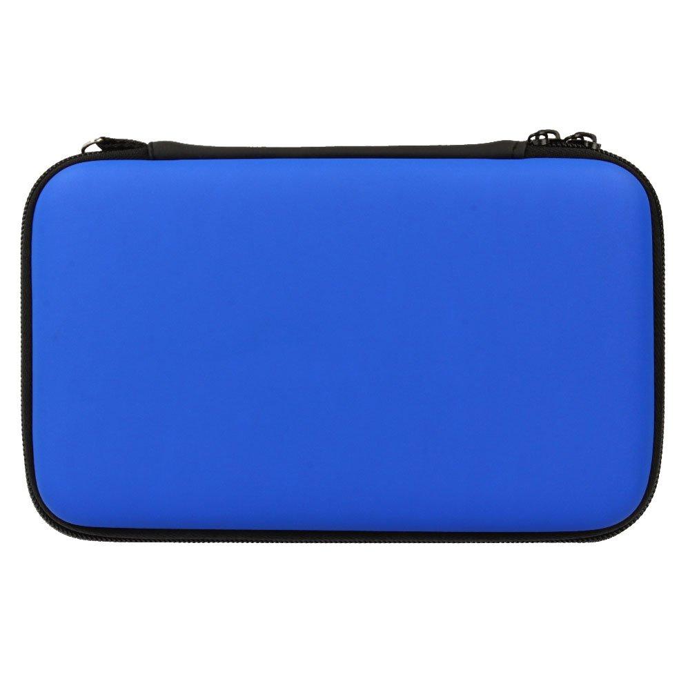TECHGEAR Carcasa Compatible con Nintendo 2DS XL - Funda Dura Protectora de Viaje y Llevar para 2DS XL + Tarjetas de Juego + Accesorios [BLU]