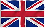 ANLEY [Fly Breeze] 3x5 Foot United Kingdom UK Flag - Vivid Color and UV Fade Resistant - Canvas Header and Double Stitched - British National Flags Polyester with Brass Grommets 3 X 5 Ft