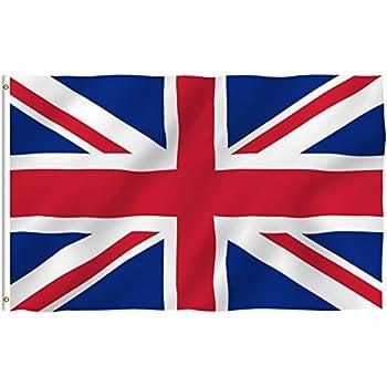 Amazon.com : 3ft x 5ft United Kingdom Flag - UK Polyester British ...