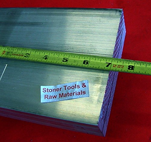 6 Pieces 1-1/2'' X 5'' ALUMINUM 6061 FLAT BAR 7'' long SOLID T6 Plate Mill Stock by Stoner Metals