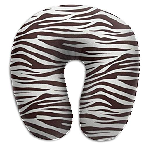 KJHDSI Metro Living Zebra Chocolate Comfortable Travel Pillow,Comfort Master Neck Pillow, a Memory Foam Pillow That Provides Relief and Support for Travel, Home, Neck Pain, and Many More (Metro Master)