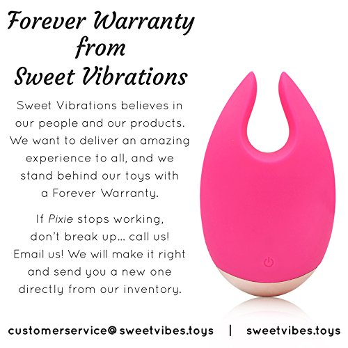 Pixie - Clitoris Vibrator - Magical Sex Toy with 10 Settings for Women and Couples Waterproof, Rechargeable, Quiet, Pink, by Sweet Vibrations