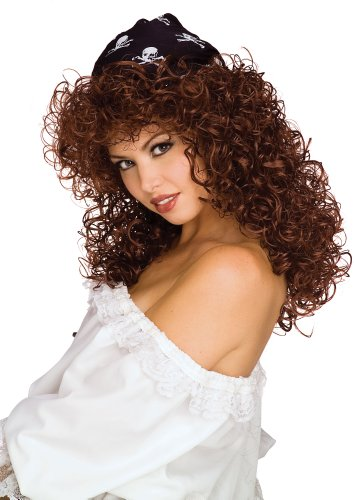 Rubie's Pirate Vixen Long Curly Wig, Brown, One Size -