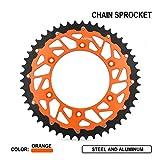 JFG RACING 52T CNC Rear Chain Sprocket - KTM XCF EXC XC XCW EXCF SX SXF 125 150 200 250 300 450 525 - Orange