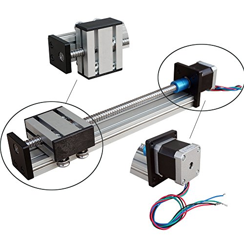 Industrial Linear Guide Slide Table Ball Screw Motion Rail CNC Linear Actuator Stage with 42 Stepper Motor[200mm]