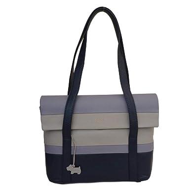795dd4da1674 RADLEY  Berwick Street  Large Navy Striped Leather Shoulder Bag - RRP £229 -