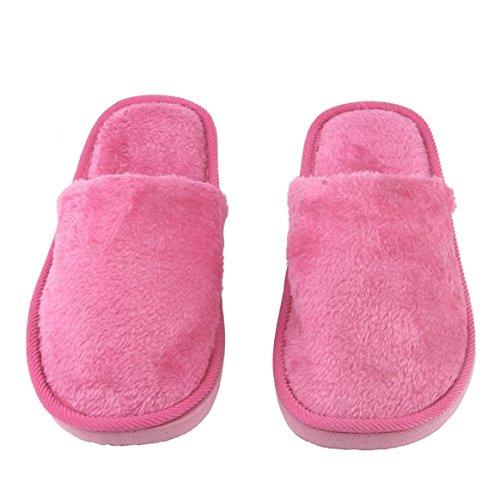 Maison Chaud Semelle Caoutchouc Anti Adulte en Silent Coton Slip Chaussures Femmes Intérieur Respirant Delicacydex Doux en Maison Pantoufle Semelle Peluche Maison Hommes CWPFcST