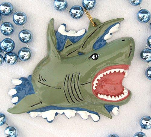 (Shark Luau Mardi Gras Necklace New Orleans Beads)