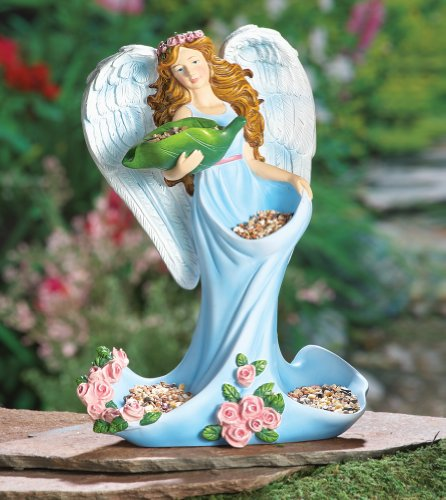 Angel Bird Feeder Garden Sculpture - Halo Feeder