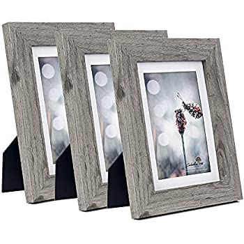 Scholartree Wooden Grey 5x7 Picture Frame 3 Set in 1 Pack or 5x7 Frame or 11x14 Photo Frame