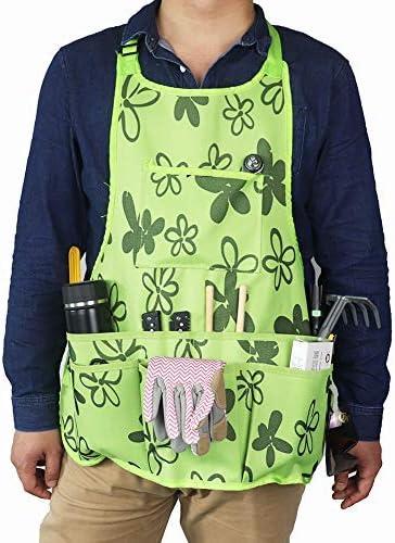 Garden Tool Apron, Professional Work Apron for Women, Gardening Tools Belt, Waterproof Gardening Workers Apron WQ13 [並行輸入品]